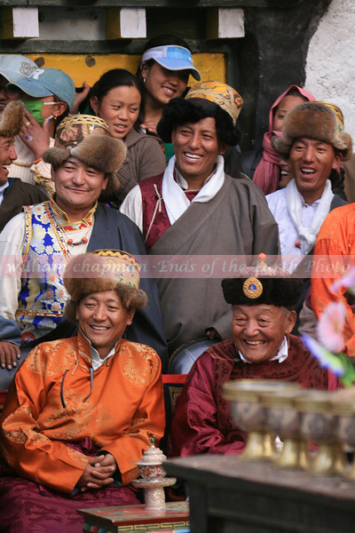 The King of Mustang beams in approval at the annual Teej Festival held in the capital city of LoMantang, Upper Mustang