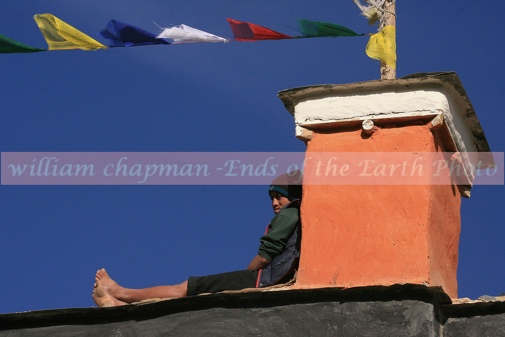 Spectator above the Festival at LoMantang- Upper Mustang