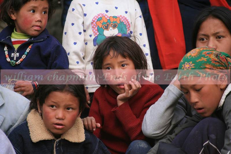 Children taken in by the mystical dancers of Teej- Mustang