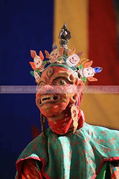Masked dancer at the Teej- Mustang