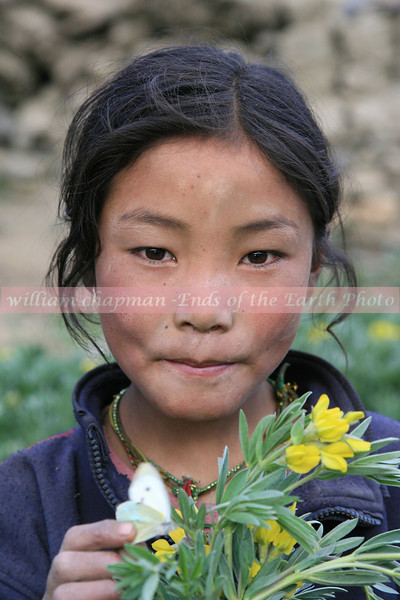 Child of Mustang 2 with butterfly