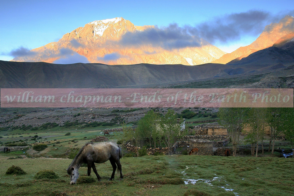 Typical village scene in Upper Mustang