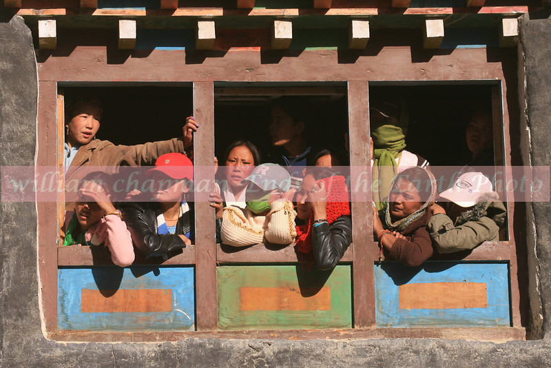 Onlookers at the Teej Festival in LoMantang- Upper Mustang