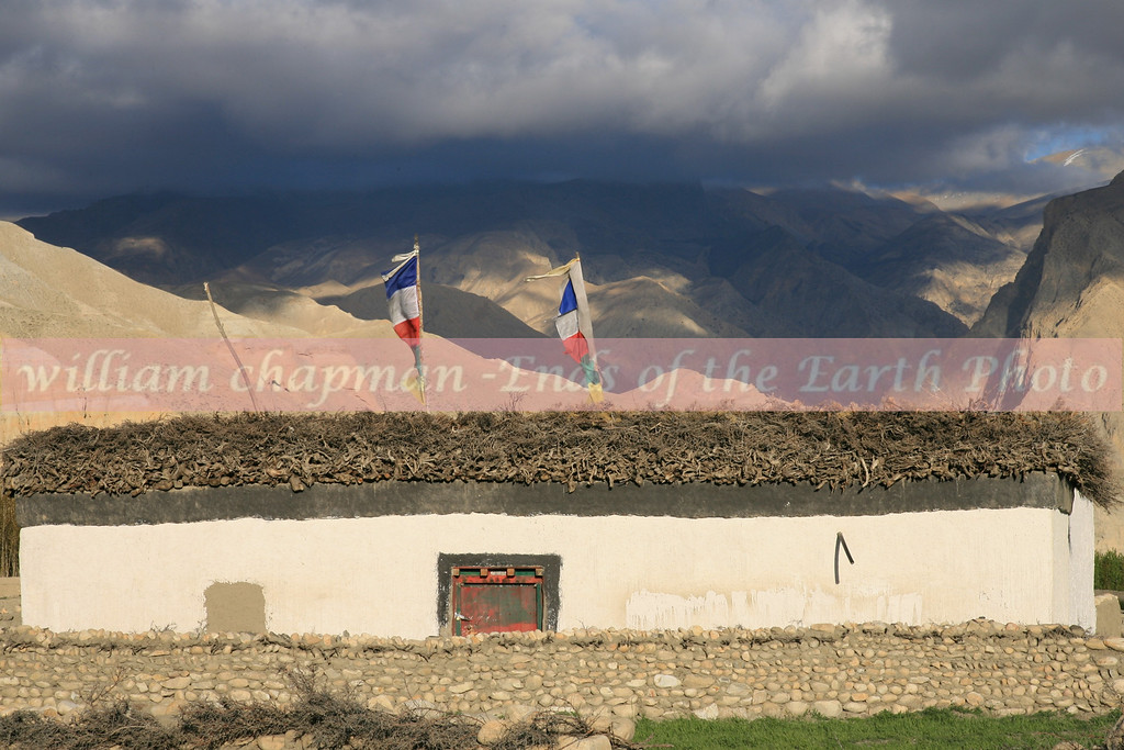 Typical Tibetan style house in Upper Mustang