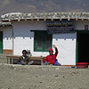 Two of our Sherpas, Ang Dawa and Phuri relax at a tea house in Tangbe.