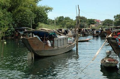 Sampan village, Perfume River, Hue.