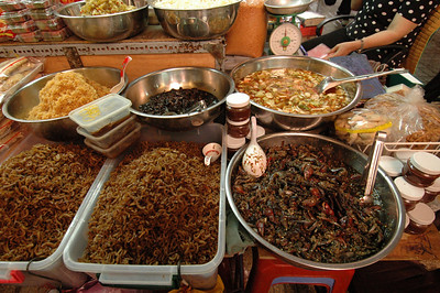 Local delicacies, public market, Saigon