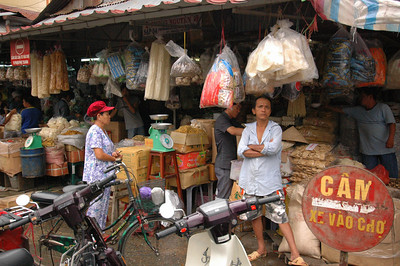 At the public market, Saigon