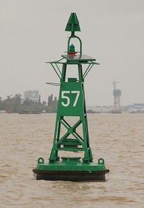 Channel marker, Mekong River, near Muy Tho, enroute Ben Tre.