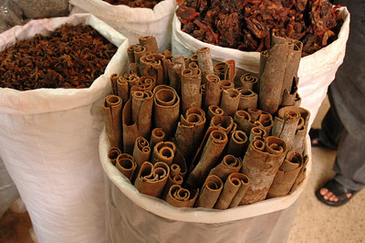 Cinnamon and anise, public market, Saigon