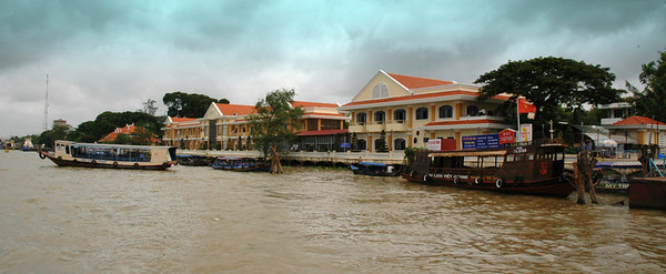 Waterfront, Muy Tho, on the Mekong River.