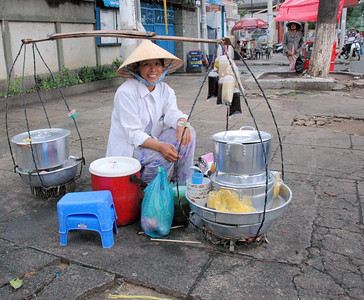 Street vendor in Saigon