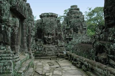 Detail of the Bayon Temple, Angkor Thom, Cambodia.