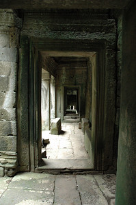 Passageway into the Bayon Temple, Angkor Thom, Cambodia.