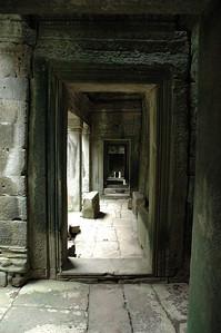 Passageway into the Bayon Temple, Angkor Thom, Cambodia.