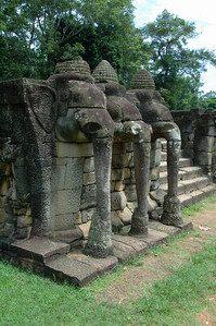 Elephants as design elements, Angkor Thom, Cambodia.