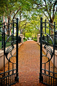 Entrance to Waterfront Park Charleston, South Carolina It was just starting rain and boy, did it pour!