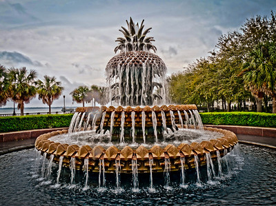 Pineapple Fountain in Waterfront Park  (In the pouring rain and not an HDR...just the ISO of my nikon d300s and lightroom) Charleston, SC