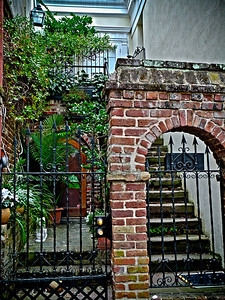 Charleston, SC I need to go back to Charleston. Unfortunately, it started to pour out in the first 90 minutes of being there. These courtyard-type scenes were plentiful and each so different. I can only imagine the cloud nine I would've been on if the sun was shining. Must go back..... must go back.