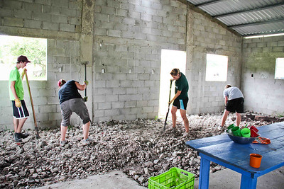 One of our many projects while in Costa Rica.  The church built a new kitchen and we helped to lay the concrete floor.