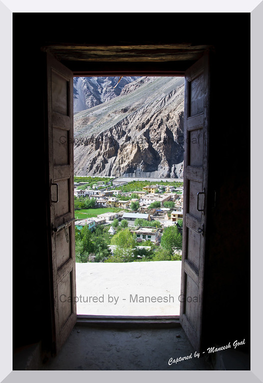 Photographed from the caves in Tabo, Spiti Valley (Himachal Pradesh)