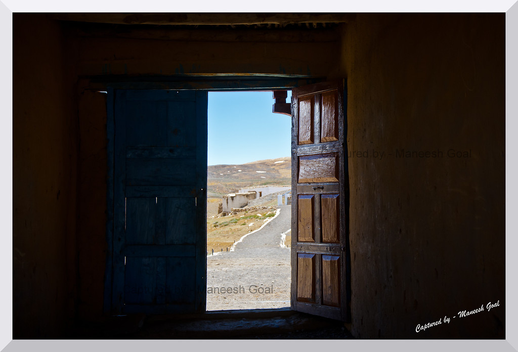 Opening the door to freedom... inside a monastery in Komic, Spiti Valley (Himachal Pradesh)