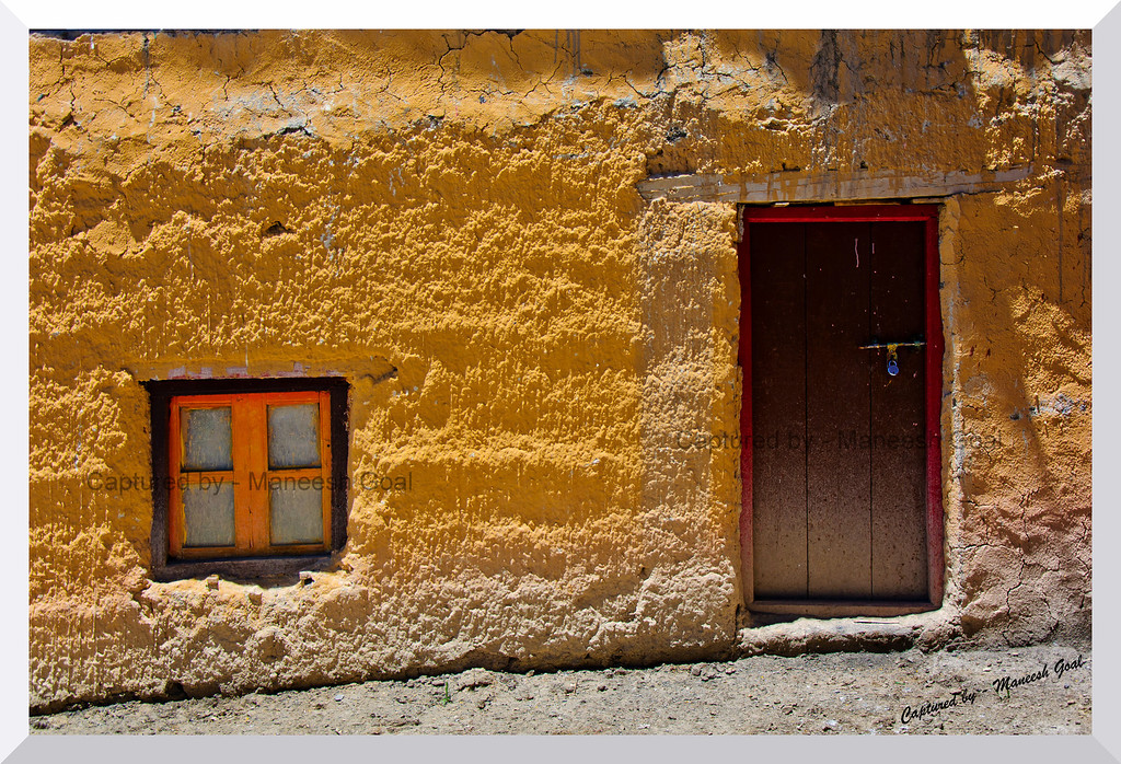 Exteriors of a house in Komic, Spiti Valley (Himachal Pradesh)