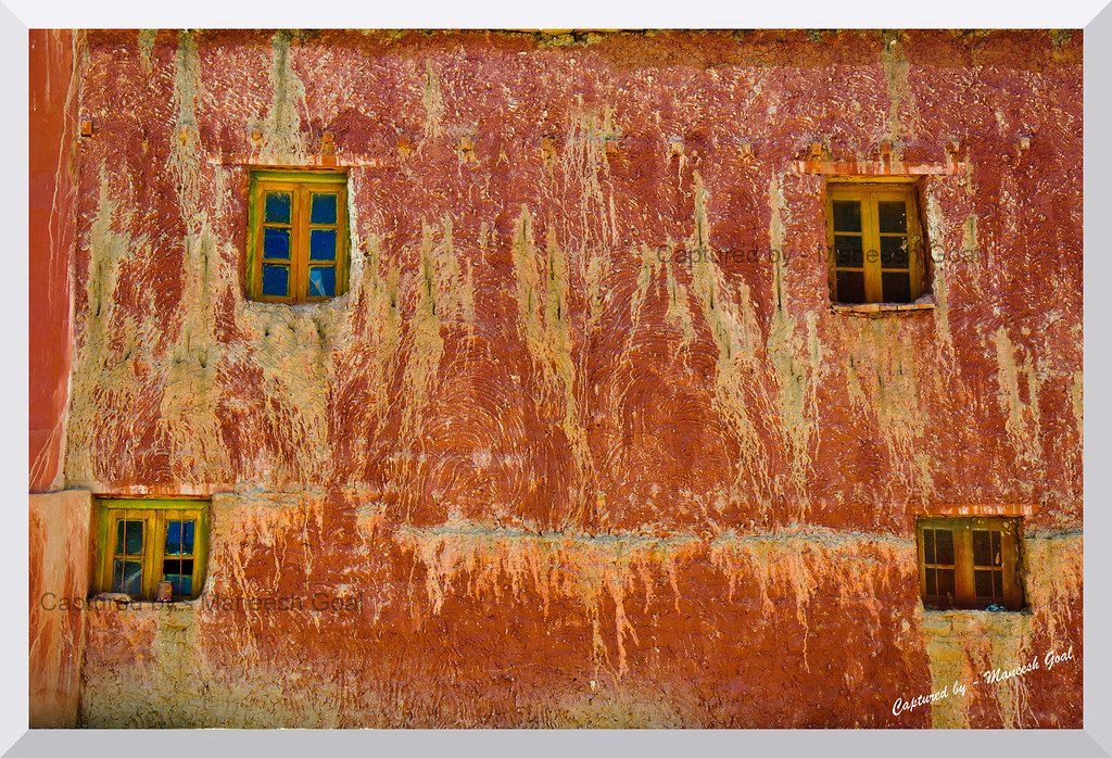 Exteriors of a building at Komic, Spiti Valley (Himachal Pradesh)