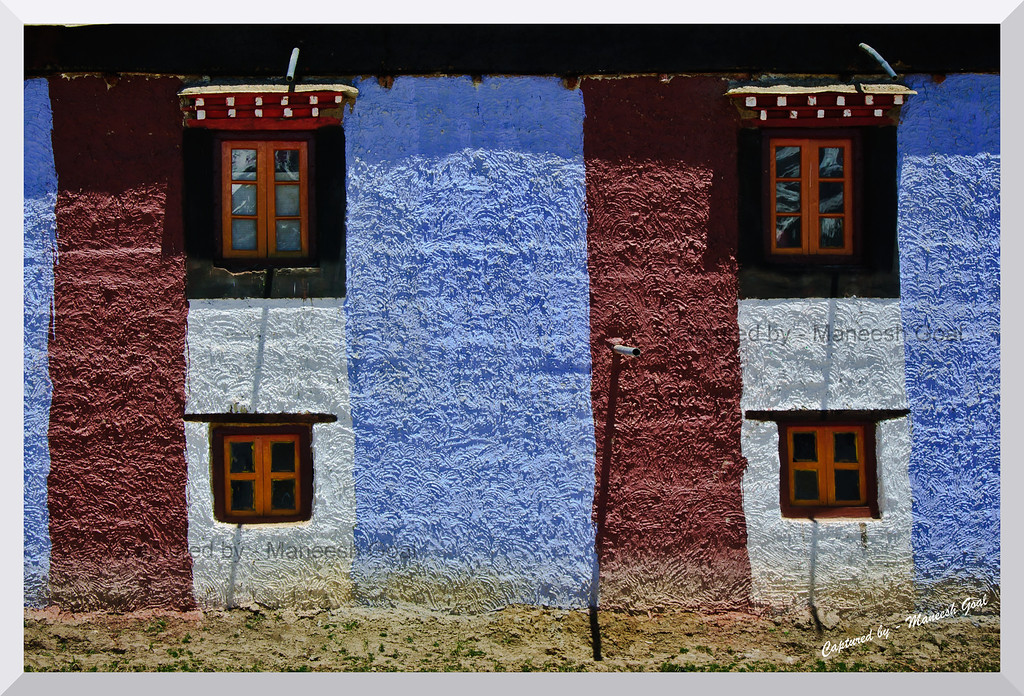 Exteriors of a building in Komic, Spiti Valley (Himachal Pradesh)