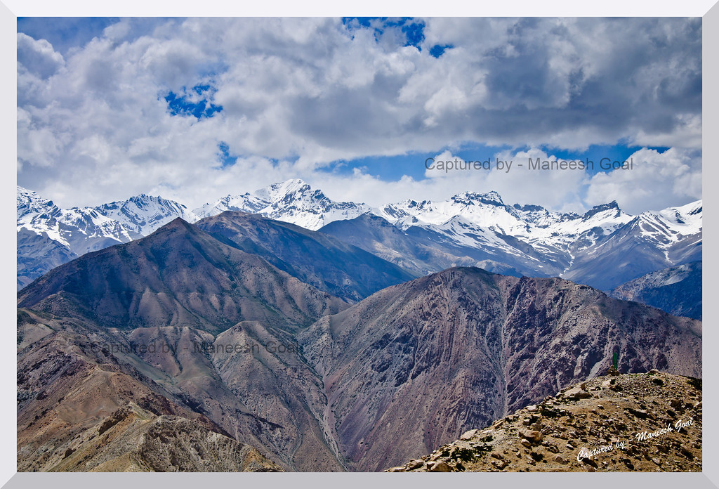 View of the HImalayas from Nako Lake, Spiti Valley (Himachal Pradesh)