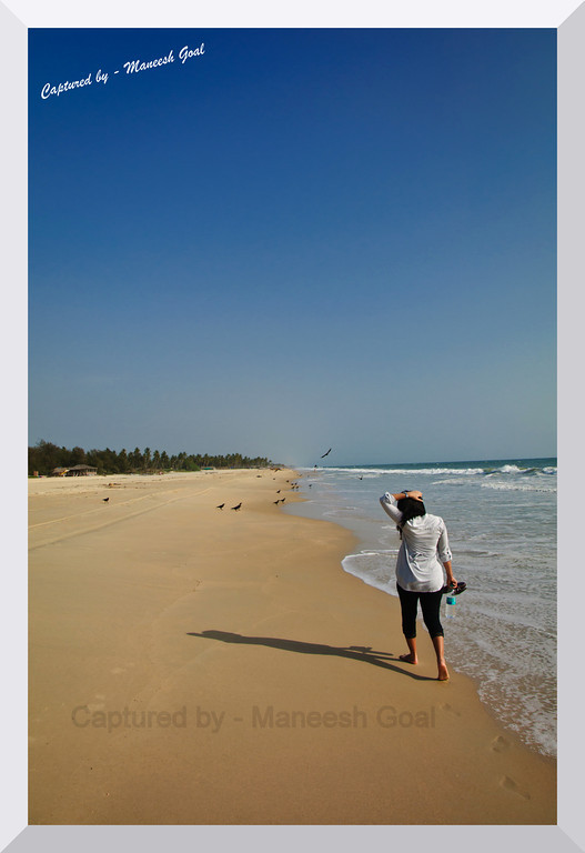 """My life is like a stroll on the beach... as near to the edge as I can go - Thoreau"" - Colva Beach"