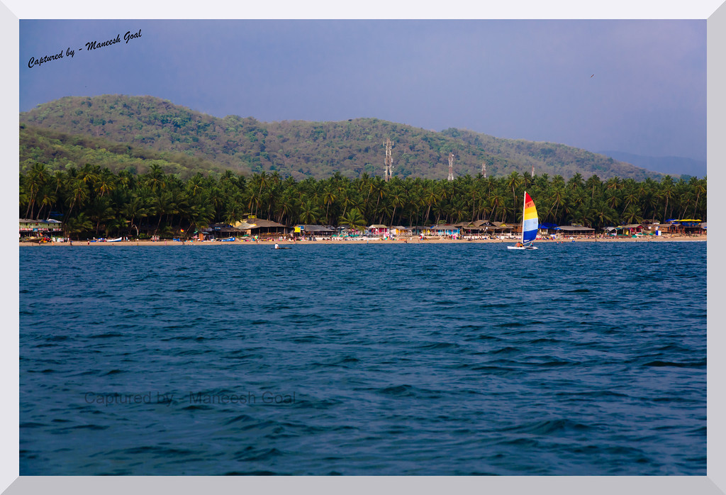 Essentially Goa - blue waters, white beaches, leisure sports, shack bars, green trees, mountains, et al - Palolem Beach