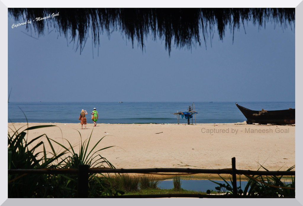 Essentially Goa - captured from a shack at Colva Beach