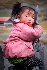 Young child in Sichuan Province