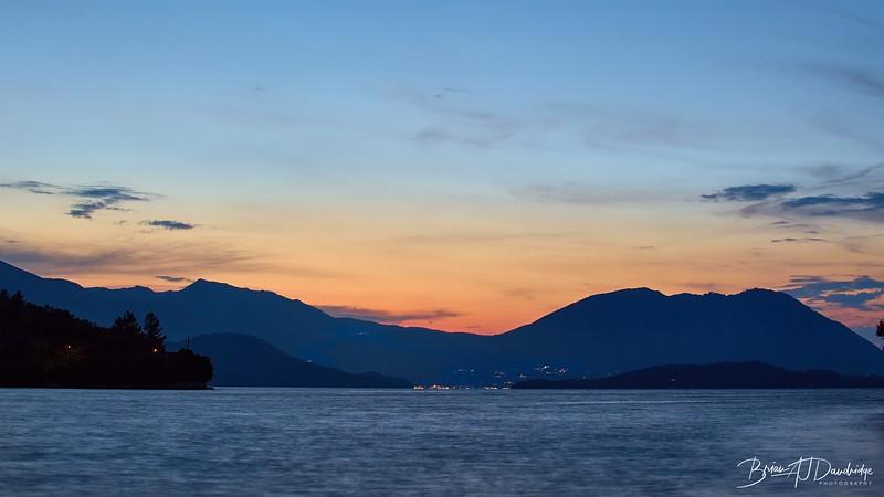 Sunset over Lefkada