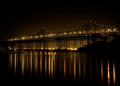 The Bay Bridge against the Oakland Ports