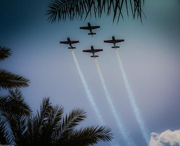 The Royal Falcons over Aqaba