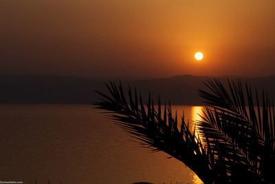 Sunset over the Dead Sea..