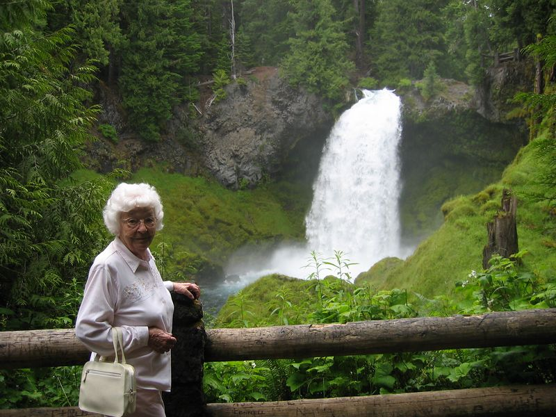 Grandmother at falls
