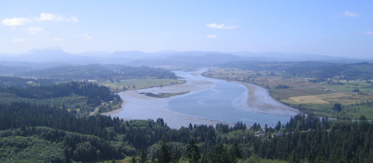 Looking over Astoria, where Lewis and Clark wintered