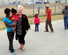 Making friends in the township in Port Elizabeth, South Africa.