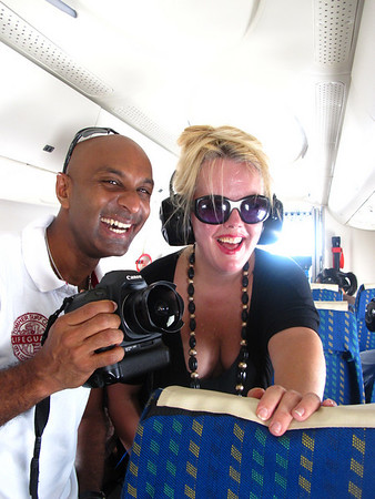 The in house photogrpaher for Sri Lankan airlines in flight w/ us on our private plane in Sri Lanka. Silliness ensues.