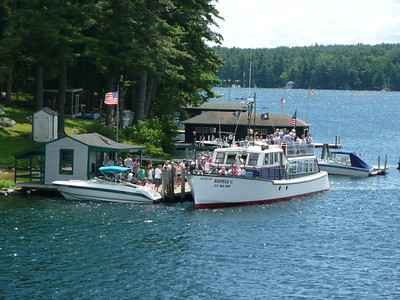 The Mail Boat, Sophie C. on Lake Winnipesaukee, NH delivering mail to Bear Island. Join us on a cruise while she delivers mail to the islands.