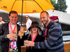 About to take off on the media boat in Amsterdam's Gay Pride Parade.The rain did not stop the fun!
