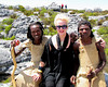 Met religious pilgrims on the top of Capetown, South Africa.