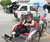 Hitching a ride in Penang, Malaysia.