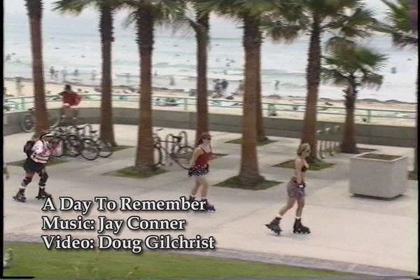 A Day To Remember by Jay Conner with video by Doug Gilchrist - This video was shot in Pacific Beach and Mission Beach in Southern California in 1995 and 2007. Many of the shots came from our balcony at the Pacific Terrace Hotel... a place I highly reccomend.You may notice the beach atire from 1995.