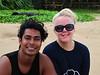 Making friends on my early morning beach walk in Sri Lanka.