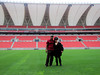 Checking out the World Cup soccer Stadium in Durban, South Africa before it was officially open. We had the stadium to ourselves.