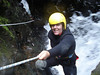 Canyoning in New Zealand. Helmets are not my fashion friend, but tons of fun otherwise!